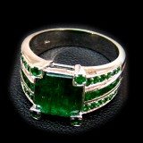Emerald With White Gold