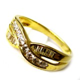 Diamond/Yellow Gold Rings B8RI-074
