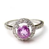 Pink Sapphire Rings B8RI-086