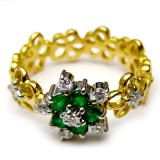 Emerald With Yellow Gold B8RI-063