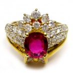 Ruby Rings With Diamond B8RI-018