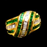 Emerald With White Gold B8RI-023