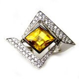 Diamonds Citrine Rings RI-009