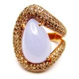 Diamond Chalcedony Rings