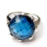 Blue Topaz Rings RO-74