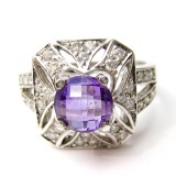 Purple Amethyst Rings RI-075BASI