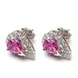 Pink Sapphire Earings BER-31