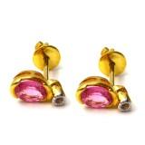 Pink Sapphire Earings BER-003